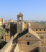 View over rooftops of Alcazar, Cordoba, Spain - Alcázar de los Reyes Cristianos