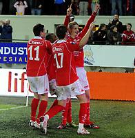 Fotball<br /> 28. September 2009<br /> Tippeligaen<br /> Brann stadion<br /> Brann - Odd Grenland 4 - 2<br /> Erik Huseklepp , Brann<br /> Petter Vaagan Moen , Brann feirer <br /> Erik Huseklepp , Branns mål<br /> Foto : Astrid M. Nordhaug