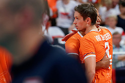21-09-2019 NED: EC Volleyball 2019 Netherlands - Germany, Apeldoorn<br /> 1/8 final EC Volleyball / Maarten van Garderen #3 of Netherlands, Nimir Abdelaziz #14 of Netherlands