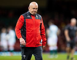Defence Coach Shaun Edwards of Wales during the pre match warm up<br /> <br /> Photographer Simon King/Replay Images<br /> <br /> Friendly - Wales v Ireland - Saturday 31st August 2019 - Principality Stadium - Cardiff<br /> <br /> World Copyright © Replay Images . All rights reserved. info@replayimages.co.uk - http://replayimages.co.uk