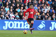 Marcos Rojo of Manchester Utd in action. Premier league match, Swansea city v Manchester Utd at the Liberty Stadium in Swansea, South Wales on Sunday 6th November 2016.<br /> pic by  Andrew Orchard, Andrew Orchard sports photography.