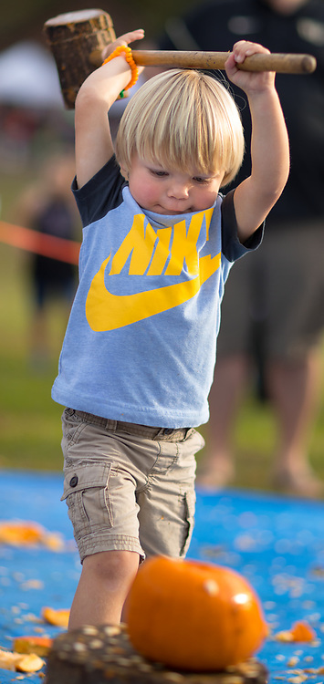 Myles Bouldin, 3, of Trinity, NC.<br /> <br /> Quaker Lake Camp's 2017 Pumpkin Festival.<br /> <br /> Photographed, Saturday, October 21, 2017, in Greensboro, N.C. JERRY WOLFORD  / Perfecta Visuals
