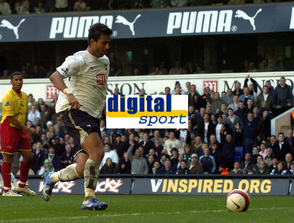 Photo: Olly Greenwood.<br />Tottenham Hotspur v Watford. The Barclays Premiership. 17/03/2007. Tottenham's Mido can't believe he missed an easy chance