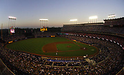 General view of Dodger Stadium sellout crowd of 55,868, the second-largest regular season crowd in stadium history, during Los Angeles Dodgers game against the Arizona Diamondbacks ini Los Angeles, Calif. on Sunday, July 3, 2005.
