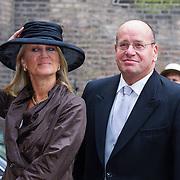 NLD/Den Haag/20130917 -  Prinsjesdag 2013, Staatssecretaris van Veiligheid en Justitie Fred Teeven en partner Irma Klaassen