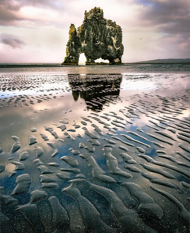 Hvitserkur at Vatnsnes peninsula, Iceland