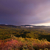 """""""Dark Skies Leaving""""<br /> <br /> Wondrous mountains and sky after a spring thunderstorm in the Blue Ridge mountains!!<br /> <br /> The Blue Ridge Mountains by Rachel Cohen"""