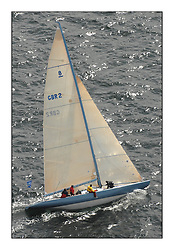 Sailing - The 2007 Bell Lawrie Scottish Series hosted by the Clyde Cruising Club, Tarbert, Loch Fyne..Brilliant first days conditions for racing across the three fleets...Class 2 8M Lafayette.