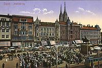 Zagreb : Jelačićev trg. <br /> <br /> ImpresumDresden : Stengel & Co., G. m. b. H., 1913.<br /> Materijalni opis1 razglednica : tisak ; 8,8 x 13,8 cm.<br /> NakladnikStengel & Co.<br /> Vrstavizualna građa • razglednice<br /> ZbirkaZbirka razglednica • Grafička zbirka NSK<br /> ProjektPozdrav iz Hrvatske • Pozdrav iz Zagreba<br /> Formatimage/jpeg<br /> PredmetZagreb –– Trg bana Josipa Jelačića<br /> SignaturaRZG-JEL-6<br /> Obuhvat(vremenski)20. stoljeće<br /> NapomenaRazglednica je putovala 1914. godine.<br /> PravaJavno dobro<br /> Identifikatori000952396<br /> NBN.HRNBN: urn:nbn:hr:238:894513 <br /> <br /> Izvor: Digitalne zbirke Nacionalne i sveučilišne knjižnice u Zagrebu