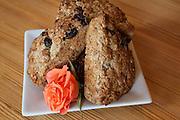 Five grain banana-cherry scones by Mireille Roc