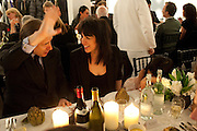 SIMON DE PURY; JENNIFER RUBELL;; 'Engagement' exhibition of work by Jennifer Rubell. Stephen Friedman Gallery. London. 7 February 2011. -DO NOT ARCHIVE-© Copyright Photograph by Dafydd Jones. 248 Clapham Rd. London SW9 0PZ. Tel 0207 820 0771. www.dafjones.com.
