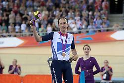 © London News Pictures. 31/08/2012. Stratford, London, UK. Darren Kenny GBR - men's individual C3 pursuit bronze medal winner. Photo credit should read Manu Palomeque/LNP