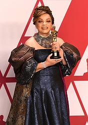 Ruth Carter with the award for Best Costume design for Black Panther in the press room at the 91st Academy Awards held at the Dolby Theatre in Hollywood, Los Angeles, USA
