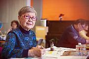 Senior Woman Doing Painting Activity