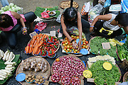 Vendors selling a variety of vegetables at the Divisoria market, Manila, Philippines. (Supporting image from the project Hungry Planet: What the World Eats.) Small markets are still the lifeblood of communities in the developing world.