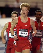Daniel Lincoln was fourth in the men's 3000 meters in 7:58.04 in the USA Track & Field Indoor Championships at the Reggie Lewis Track & Athletic Center at Roxbury Community College on Sunday, Feb. 29, 2004 in Roxbury Crossing, Mass.