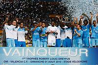 FOOTBALL - TROPHEE ROBERT LOUIS DREYFUS 2010/2011 - OLYMPIQUE MARSEILLE v VALENCIA CF - 1/08/2010 - PHOTO PHILIPPE LAURENSON / DPPI - OM TROPHY