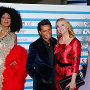NLD/Rotterdam/20130209 - De Franse modeontwerper Jean Paul Gaultier opent zijn tentoonstelling in de Kunsthal Rotterdam, Hedwig Vigelandzoon en Pernille la Lau