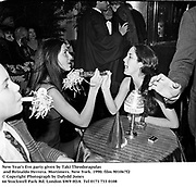New Year's Eve party given by Taki Theodorapulas and Reinaldo Herrera. Mortimers. New York. 1990.<br />© Copyright Photograph by Dafydd Jones<br />66 Stockwell Park Rd. London SW9 0DA<br />Tel 0171 733 0108
