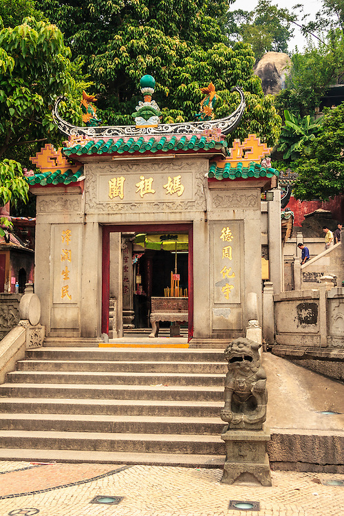 A-Ma temple in Macau, China. The temple worships the Chinese sea goddess Mazu, which is the Goddess of the fishermen.
