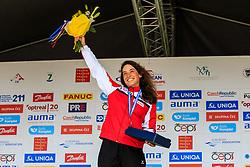 Wolffhardt Viktoria (AUT) medal ceremony after Finals during Day 2 of 2018 ECA Canoe Slalom European Championships, on June 2nd, 2018 in Troja , Prague, Czech Republic. Photo by Grega Valancic / Sportida