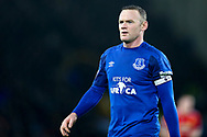 Wayne Rooney of Everton looks on. Premier league match, Everton v Manchester Utd at Goodison Park in Liverpool, Merseyside on New Years Day, Monday 1st January 2018.<br /> pic by Chris Stading, Andrew Orchard sports photography.