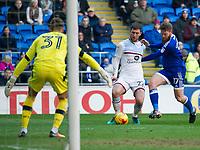 Football - 2016 / 2017 Championship - Cardiff City vs. Aston Villa<br /> <br /> Aron Gunnarsson Cardiff City attacks Gary Gardner of Aston Villa --, at Cardiff City Stadium.<br /> <br /> COLORSPORT/WINSTON BYNORTH