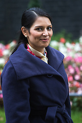 Downing Street, London, October 11th 2016. Government ministers leave the first post-conference cabinet meeting. PICTURED: International Development Secretary Priti Patel