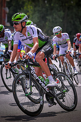 July 28, 2018 - Les Bons Villers, BELGIUM - Australian Lachlan Morton of Team Dimension Data pictured during the first stage of the Tour De Wallonie cycling race, 193,4 km from La Louviere to Les Bons Villers, on Saturday 28 July 2018. BELGA PHOTO LUC CLAESSEN (Credit Image: © Luc Claessen/Belga via ZUMA Press)