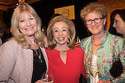 DEBBIE MOORE; JENNIFER ROSENBURG; SOPHIE MIRMAN, , The Veuve Clicquot Business Woman Award. Claridge's Ballroom. London W1. 11 May 2015.