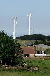 Wind farm in countryside NE England