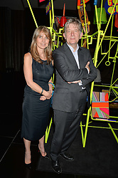 SARAH MILLER and DEYAN SUDJIC at a dinner at The Bulgari Hotel, 171 Knightsbridge to celebrate The London Design Festival on 13th September 2016.