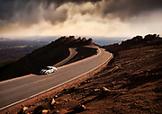 seattle-pacific-northwest-automotive-photographer-randy-wells-location-and-studio-specialist-car-videographer-filmmaker-cinematographer-storyteller-writer, Image of Fred Veitch in a silver Porsche 996 Turbo at the 2014 Pikes Peak Hillclimb test day, Colorado, American Southwest by Randy Wells
