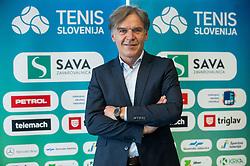 David Kastelic during press conference of Tenis Slovenija when presented WTA Portoroz 2021 tournament, on February 18, 2021 in Kristalna palaca, Ljubljana, Slovenia. Photo by Vid Ponikvar / Sportida