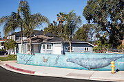 Wall Mural in a Residential Neighborhood in San Clemente California