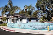 Wall Mural in a Residential Neighborhood in San Clemente California
