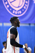 NORTH AUGUSTA, SC. July 10, 2019. Franck Kepnang 2021 #22 of PSA Cardinals 17U at Nike Peach Jam in North Augusta, SC. <br /> NOTE TO USER: Mandatory Copyright Notice: Photo by Alex Woodhouse / Jon Lopez Creative / Nike