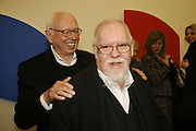 Ellsworth Kelly and Sir Peter Blake, Ellsworth Kelly exhibition opening. Serpentine Gallery and afterwards at the River Cafe. London. 17 March 2006. ONE TIME USE ONLY - DO NOT ARCHIVE  © Copyright Photograph by Dafydd Jones 66 Stockwell Park Rd. London SW9 0DA Tel 020 7733 0108 www.dafjones.com