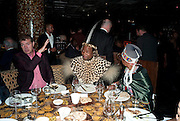 HRH GOODWILL ZWELITHINI KING OF THE ZULU NATION; HIS LEADING QUEEN: QUEEN MANTFOMBI, Opening of London's largest South african restaurant: Shaka Zulu. Stables amrket. Camden. London. 4 August 2010. <br /> -DO NOT ARCHIVE-© Copyright Photograph by Dafydd Jones. 248 Clapham Rd. London SW9 0PZ. Tel 0207 820 0771. www.dafjones.com.