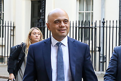 © Licensed to London News Pictures. 17/09/2019. London, UK. Chancellor of The Exchequer SAJID JAVID departs from No 11 Downing Street after attending the weekly Cabinet Meeting. Photo credit: Dinendra Haria/LNP