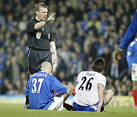IVICA MORNAR and JOHN TERRY gets told to mopve by ref G POLL<br /> Portsmouth vs. Chelsea<br /> Fratton Park<br /> Premiership<br /> 10/01/03<br /> <br /> PHOTO: Sean Ryan FOTOSPORTS INTERNATIONAL
