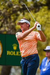 March 24, 2018 - Austin, TX, U.S. - AUSTIN, TX - MARCH 24: Ian Poulter watches his tee shot during the quarterfinals of the WGC-Dell Technologies Match Play on March 24, 2018 at Austin Country Club in Austin, TX. (Photo by Daniel Dunn/Icon Sportswire) (Credit Image: © Daniel Dunn/Icon SMI via ZUMA Press)