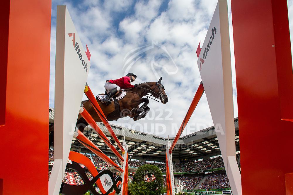 Kent Farrington, (USA), Voyeur, World Champions, - Second Round Team Competition - Alltech FEI World Equestrian Games™ 2014 - Normandy, France.<br /> © Hippo Foto Team - Leanjo De Koster<br /> 25/06/14
