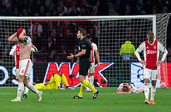 08-05-2019 NED: Semi Final Champions League AFC Ajax - Tottenham Hotspur, Amsterdam<br /> After a dramatic ending, Ajax has not been able to reach the final of the Champions League. In the final second Tottenham Hotspur scored 3-2 / Matthijs de Ligt #4 of Ajax, Daley Sinkgraven #8 of Ajax