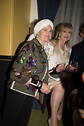 LADY EMMA KITCHENER FELLOWES: MISS ANNE HODSON-PRESSINGERLaunch hosted by Quartet books  of Madam, Where Are Your Mangoes? by Sir Desmond de Silva at The Carlton Club. London. 27 September 2017.