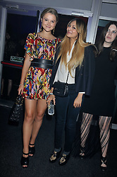 Left to right, AMBER ATHERTON and ZARA MARTIN at a party hosted by Rimmel London to celebrate the 10 year partnership with Kate Moss held at Battersea Power Station, London SW8 on 15th September 2011.