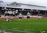 Football - 2020 / 2021 Emirates FA Cup - Round Four - Fulham vs Burnley - Craven Cottage<br /> <br /> Johann Berg Gudmundsson of Burnley and takes a free kick over the Fulham wall<br /> <br /> COLORSPORT/ANDEW COWIE