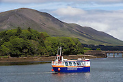 The Valentia Island Tours amphibian boat in Cahersiveen Marina in County Kerry..Picture by Don MacMonagle
