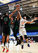 Taylor Hawks Ethan Rusbatch goes for the basket during a match against the Auckland Super City Rangers.<br /> Super City Rangers v Taylor Hawks, NBL NZ, Trusts Arena, Auckland, New Zealand. 7 July 2018. © Copyright Image: Marc Shannon / www.photosport.nz.