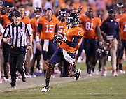 Sept. 3, 2011 - Charlottesville, Virginia - USA; Virginia Cavaliers wide receiver Darius Jennings (6) runs with the ball during an NCAA football game against William & Mary at Scott Stadium. Virginia won 40-3. (Credit Image: © Andrew Shurtleff